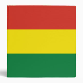 Bolivia Flag 3 Ring Binder