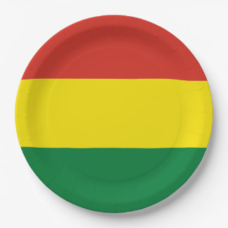 Bolivia Flag 9 Inch Paper Plate
