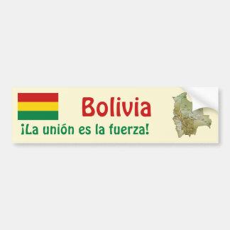 Bolivia Flag and Map Bumper Sticker