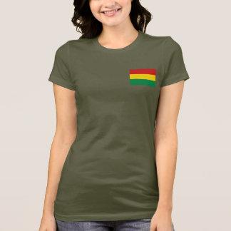 Bolivia Flag and Map dk T-Shirt