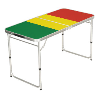 Bolivia Flag Beer Pong Table