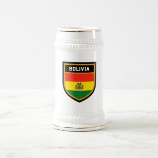 Bolivia Flag Beer Stein