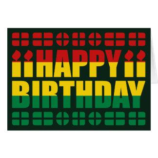 Bolivia Flag Birthday Card