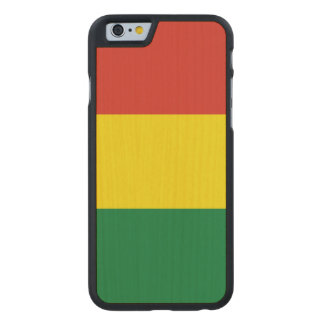 Bolivia Flag Carved Maple iPhone 6 Case