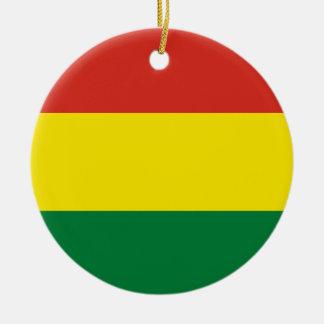 Bolivia Flag Ceramic Ornament