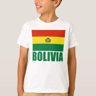 Bolivia Flag Green Text T-Shirt