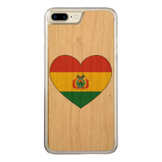 Bolivia Flag Heart Carved iPhone 8 Plus/7 Plus Case