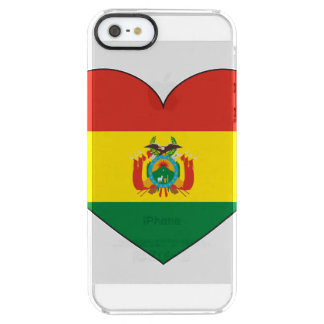 Bolivia Flag Heart Clear iPhone SE/5/5s Case