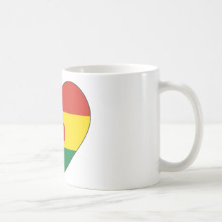 Bolivia Flag Heart Coffee Mug