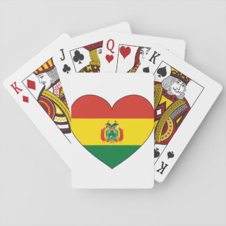 Bolivia Flag Heart Playing Cards