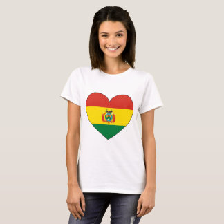 Bolivia Flag Heart T-Shirt