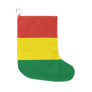 Bolivia Flag Large Christmas Stocking