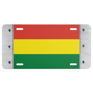 Bolivia Flag License Plate