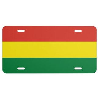Bolivia Flag License Plate