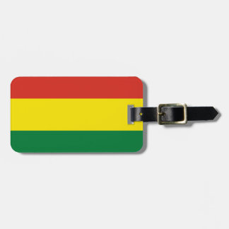 Bolivia Flag Luggage Tag