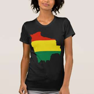 Bolivia Flag map BO T-Shirt