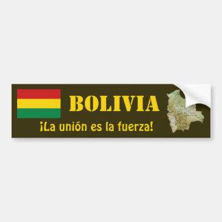Bolivia Flag + Map Bumper Sticker