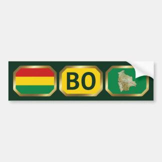 Bolivia Flag Map Code Bumper Sticker