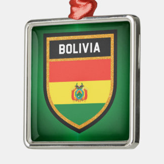 Bolivia Flag Metal Ornament