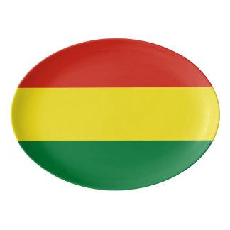 Bolivia Flag Porcelain Serving Platter