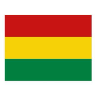 Bolivia Flag Postcard