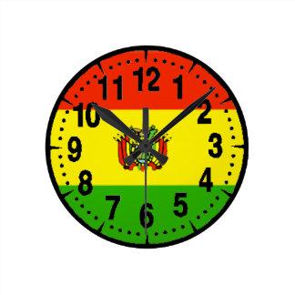 Bolivia Flag Round Clock