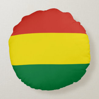 Bolivia Flag Round Pillow