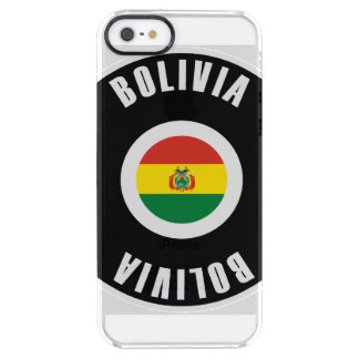 Bolivia Flag Simple Clear iPhone SE/5/5s Case