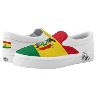 Bolivia Flag Slip-On Sneakers