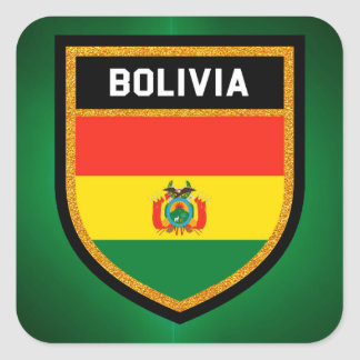 Bolivia Flag Square Sticker