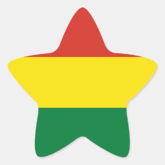 Bolivia Flag Star Sticker