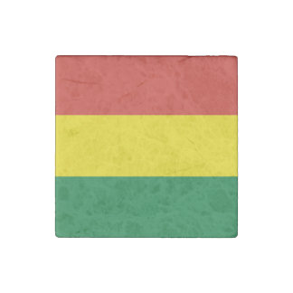 Bolivia Flag Stone Magnets