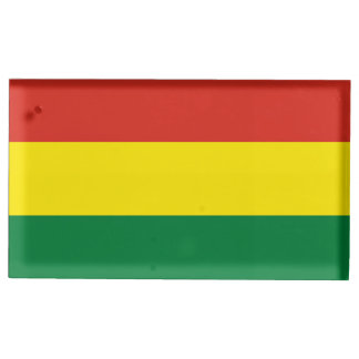 Bolivia Flag Table Card Holders