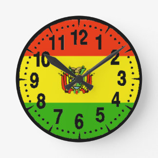 Bolivia Flag Wall Clocks