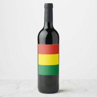 Bolivia Flag Wine Label