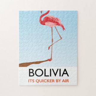 Bolivia Flamingo travel poster Jigsaw Puzzle