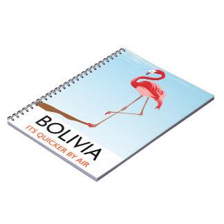 Bolivia Flamingo travel poster Notebook