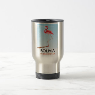 Bolivia Flamingo travel poster Travel Mug