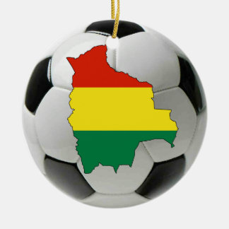 Bolivia football soccer ornament