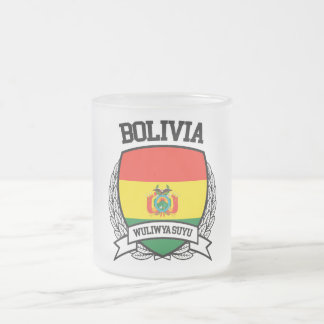 Bolivia Frosted Glass Coffee Mug