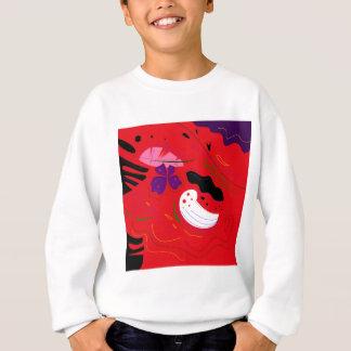 Bolivia hand-drawn Etno RED Sweatshirt