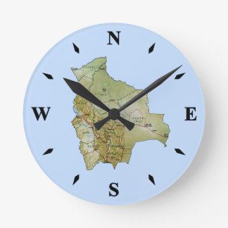 Bolivia Map Clock