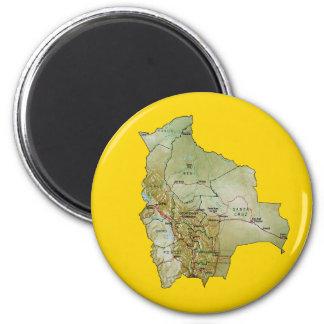 Bolivia Map Magnet