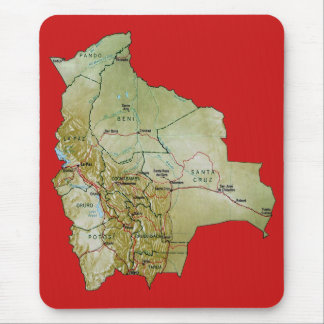 Bolivia Map Mousepad