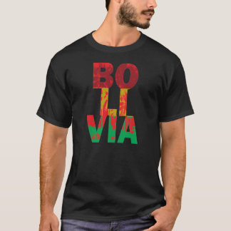 Bolivia Palm Flag Colors T-Shirt