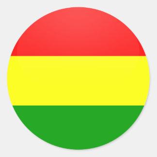 Bolivia quality Flag Circle Classic Round Sticker