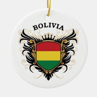 Bolivia Round Ceramic Ornament
