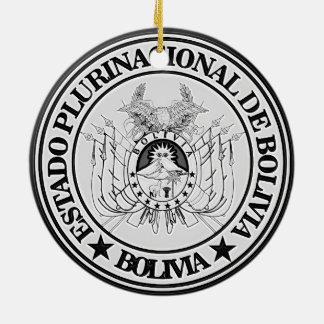 Bolivia Round Emblem Ceramic Ornament