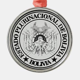 Bolivia Round Emblem Metal Ornament