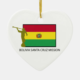 Bolivia Santa Cruz Mission LDS CTR Ceramic Ornament